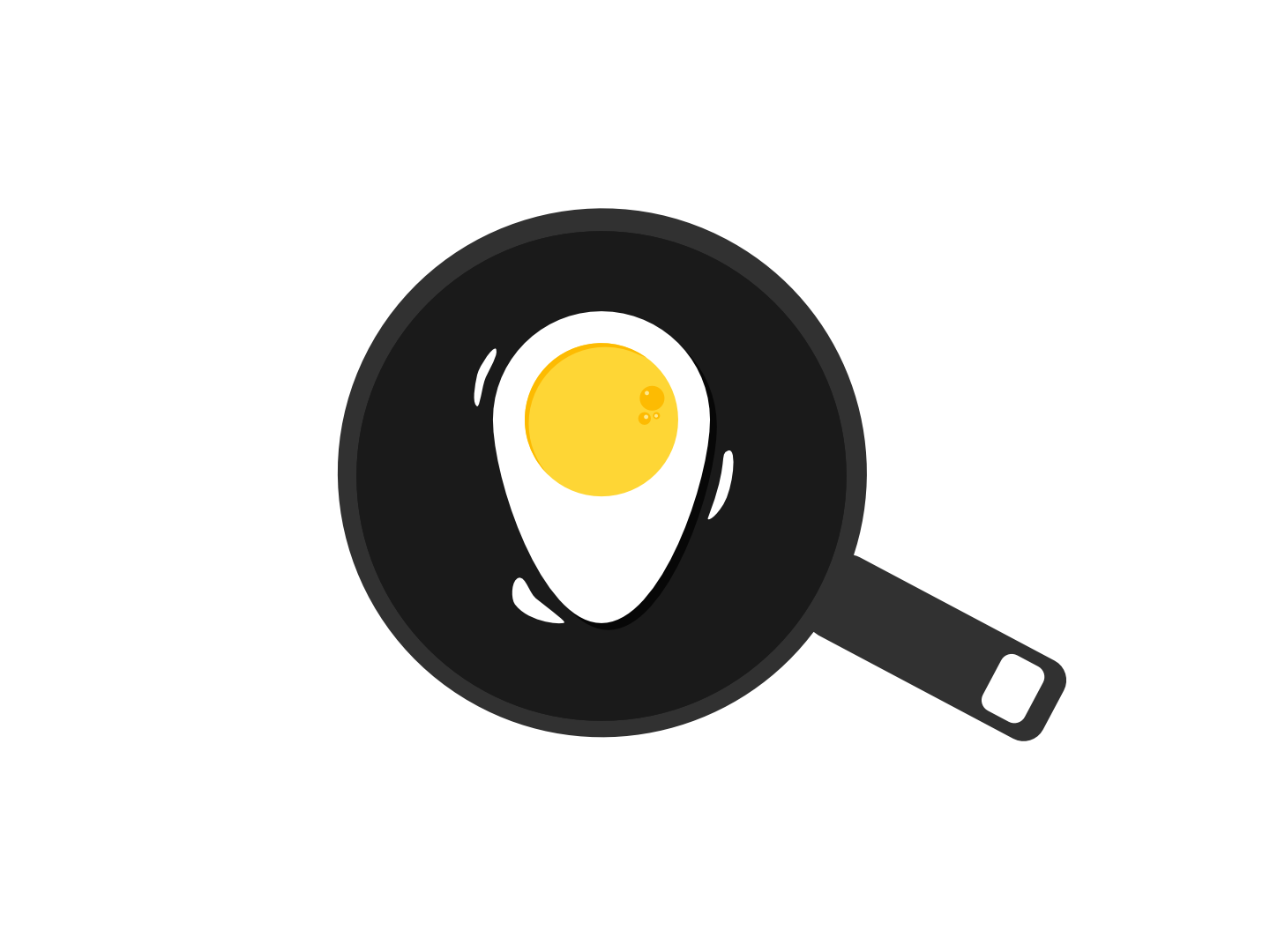 Logo Concept Egg And Locator Pin by Nurudeen Akanni on Dribbble.