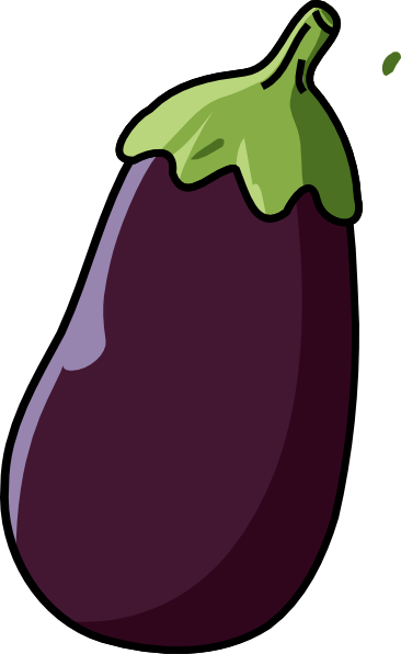 Eggplant Clipart Black And White.