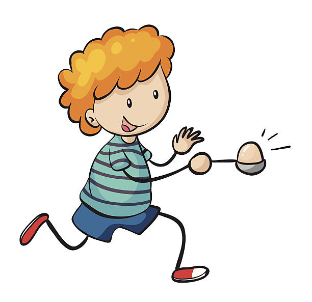 Egg And Spoon Race Illustrations, Royalty.