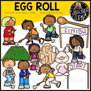 Egg Roll Clipart Big Bundle {Educlips Clipart}.