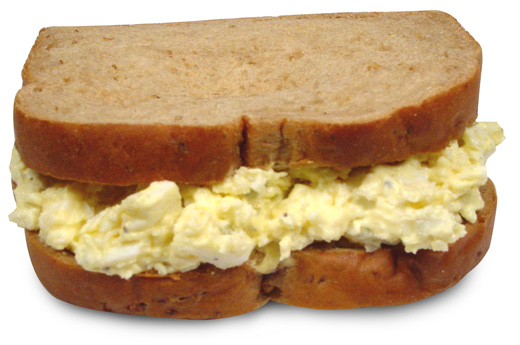 Egg salad sandwich clipart.