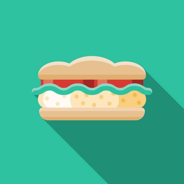 Egg Salad Sandwich Illustrations, Royalty.