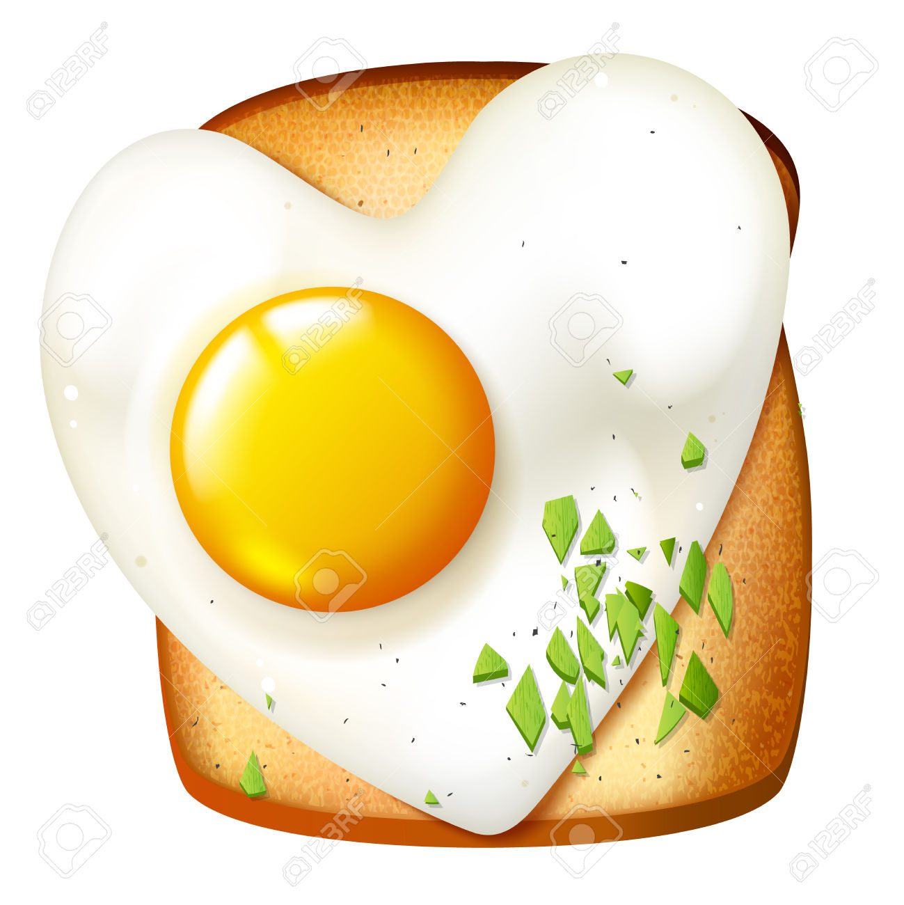 Breakfast Vector Illustration, Morning Meal, Toasted Sandwich.