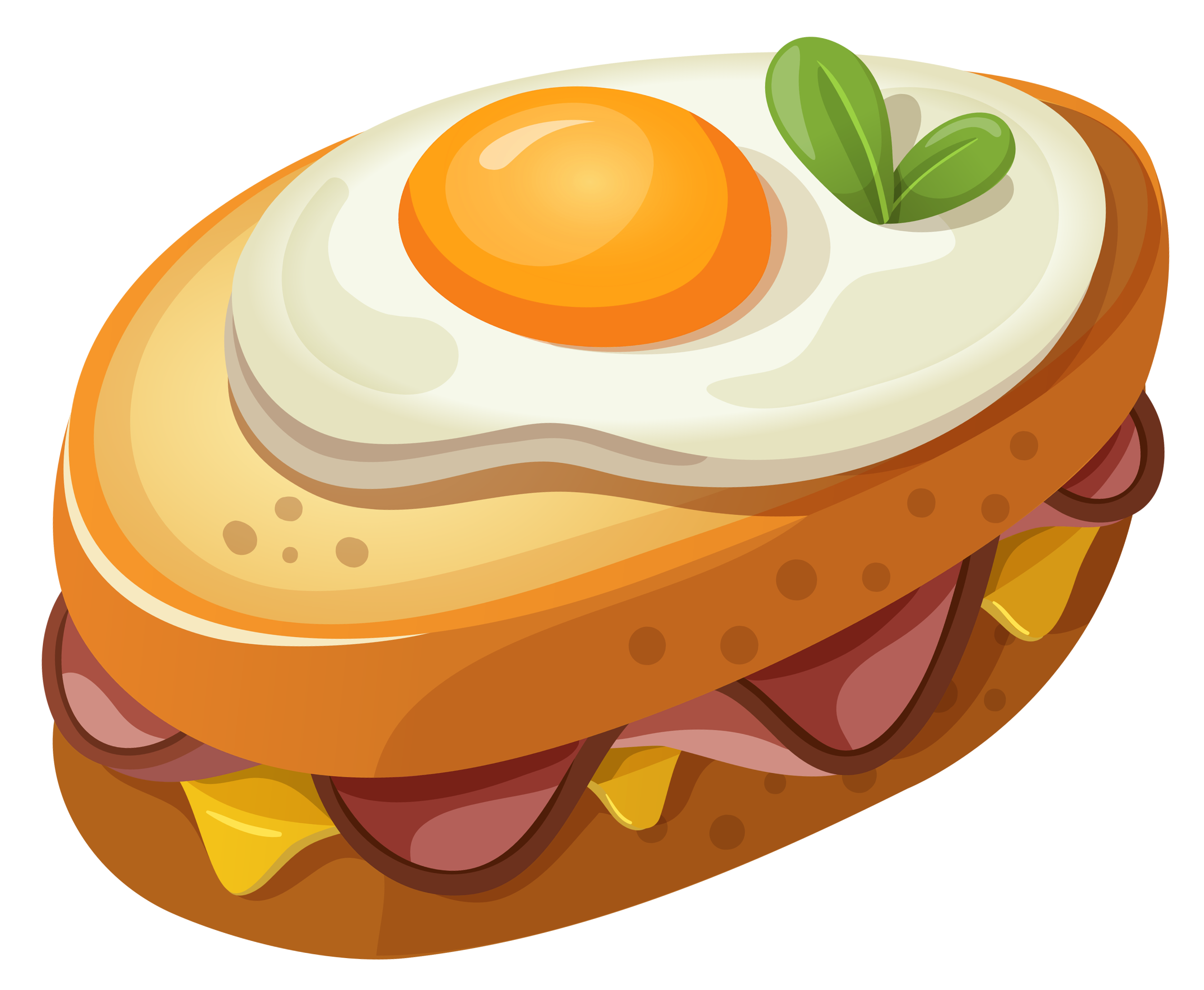 Sandwich with Egg PNG Clipart Vector Picture.