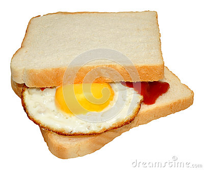 Fried Egg Sandwich Royalty Free Stock Photo.