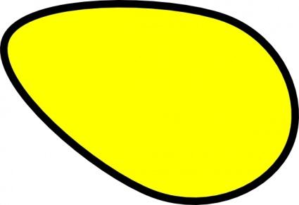 Egg shape clipart.
