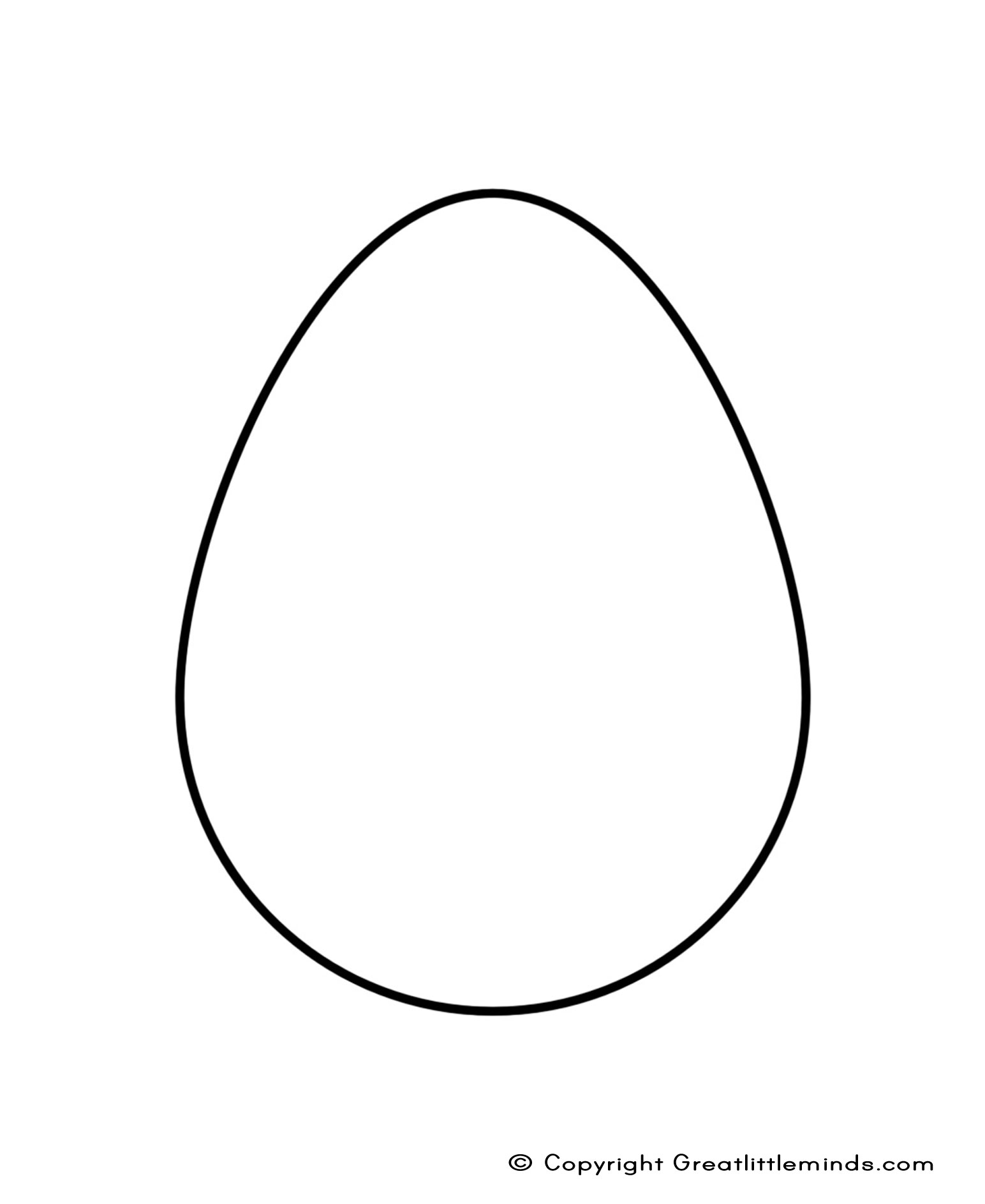 Easter Egg Shape.