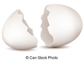 Cracked egg shell clipart.