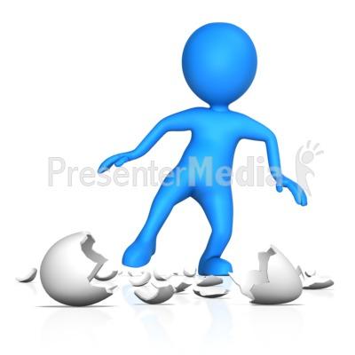 Figure Walking On Egg Shells.