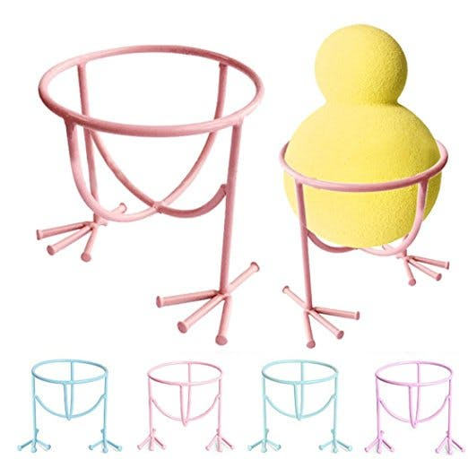 2 pcs Makeup Sponge Gourd Egg Powder Puff Storage Rack.