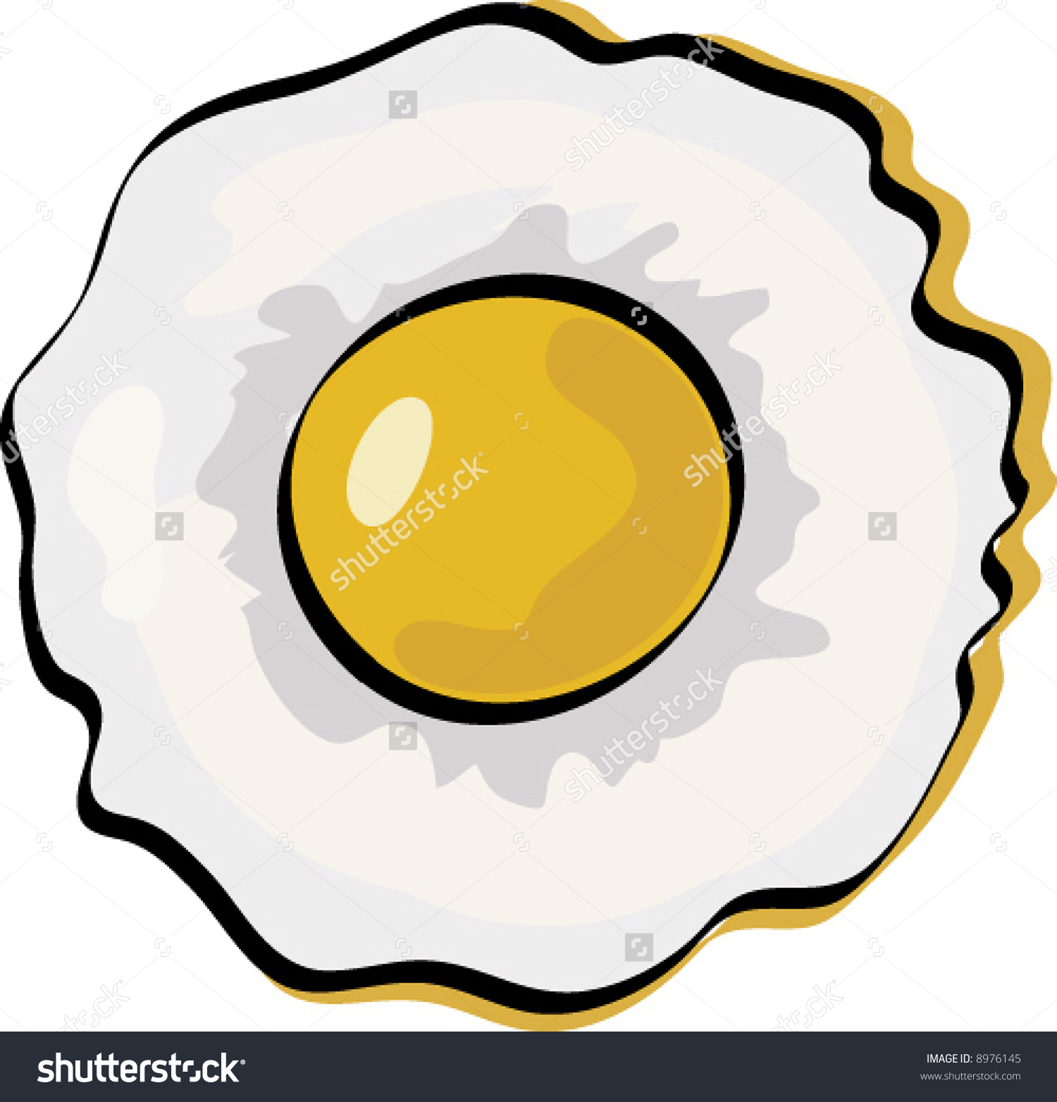 Sunny-side up eggs clipart #6