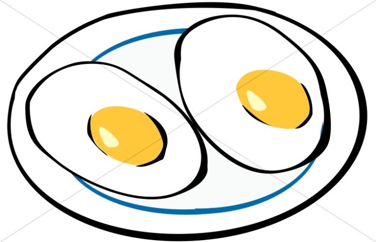 Breakfast Eggs Sunny Side Up.