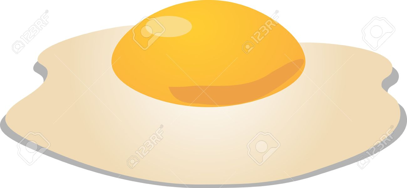 Fried Egg Sunny Side Up Sometric 3d Vector Illustration Stock.