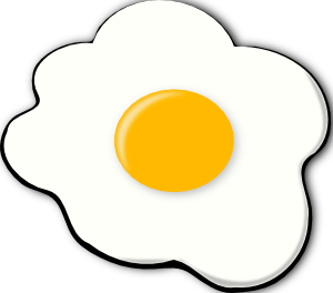 Eggs sunny side up clipart.