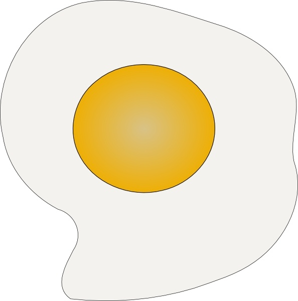 Sunny Side Up Eggs clip art Free vector in Open office drawing svg.