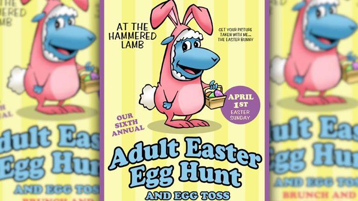 Adult Easter Egg Hunt, Egg Toss & Brunch at Hammered Lamb.