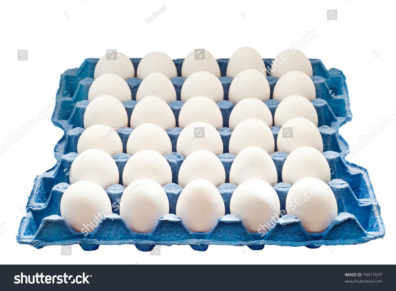 Egg Tray Isolated On White Background Stock Photo (Edit Now) 74417047.