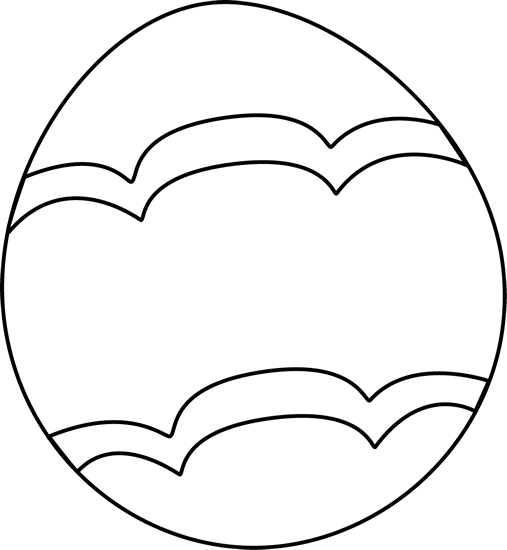 White Eggs And Black Clipart.
