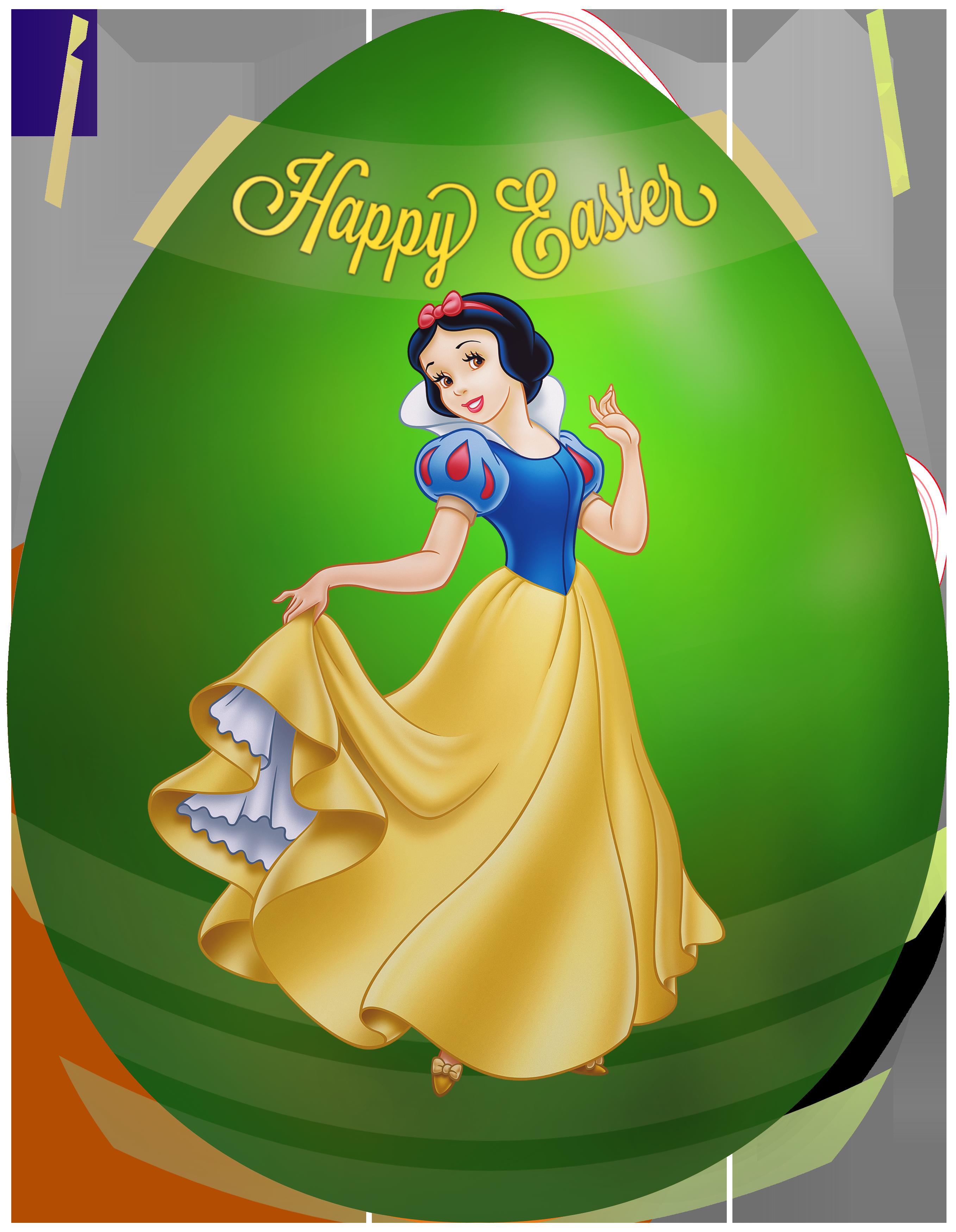 Kids Easter Egg Snow White PNG Clip Art Image.