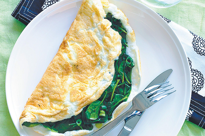 Egg white omelette.
