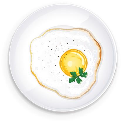 Egg White Omelet Clip Art, Vector Images & Illustrations.