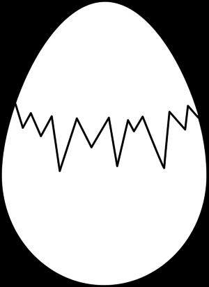 Egg outline black and white clipart.