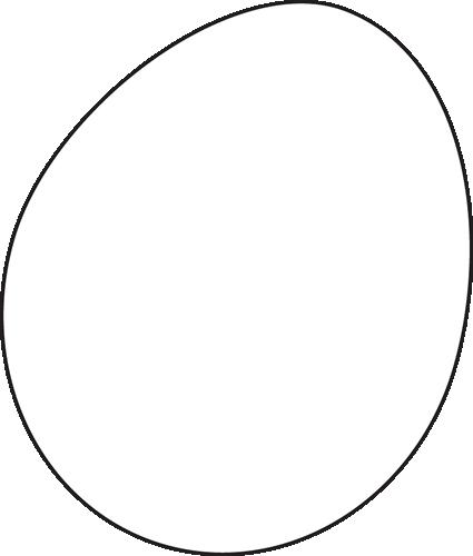Egg Black And White Clipart.