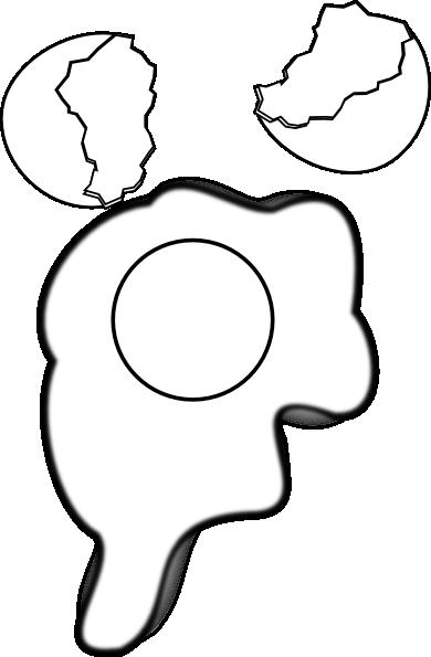 Black And White Of Egg Yolk Clipart.