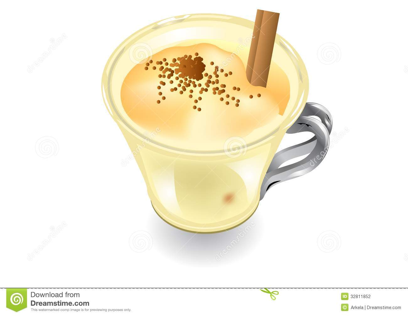 Eggnog Stock Illustrations.