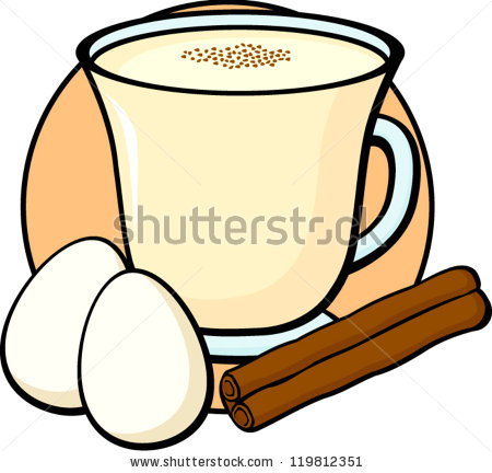 Eggnog Stock Photos, Royalty.