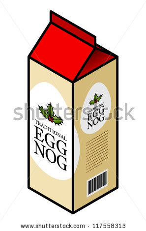 Carton Traditional Egg Nog Stock Vector 117558313.