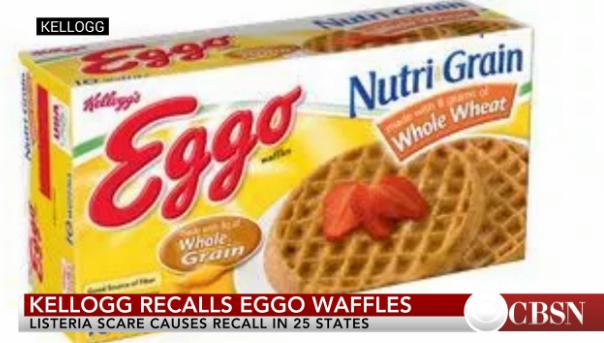 Kellogg recalls some Eggo waffles over listeria scare.