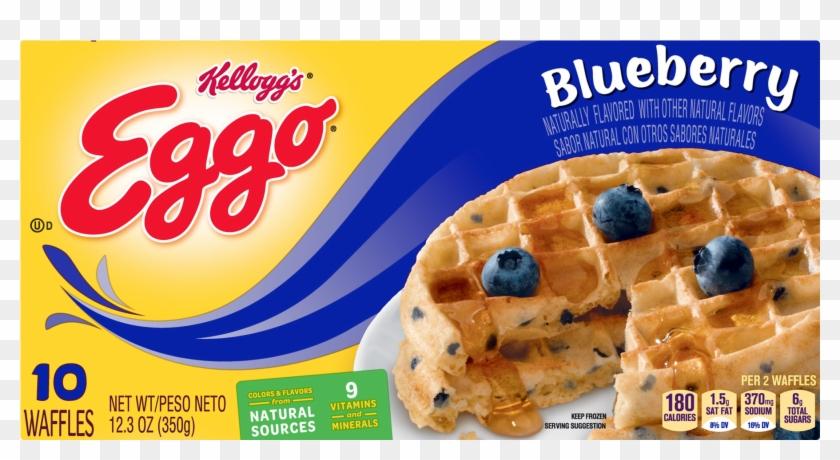 Kellogg's Eggo Blueberry Waffles, HD Png Download.