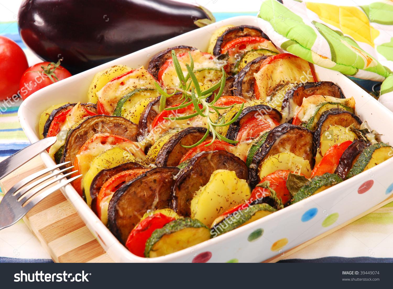 Zucchini Casserole Clip Art.