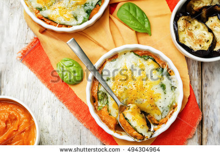Eggplant Casserole Stock Photos, Royalty.