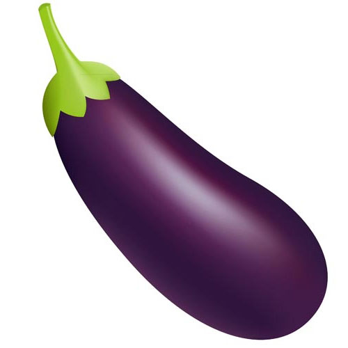Download Eggplant High Resolution Emoji Clip art #46695.