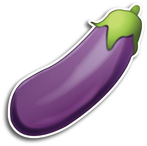 Eggplant Emoji Magnet Decal Perfect for Car or Truck.