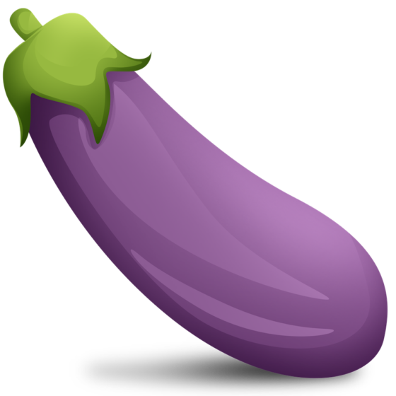 Eggplant Emoji Cutouts.