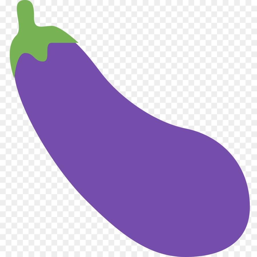 Eggplant Emoji png download.