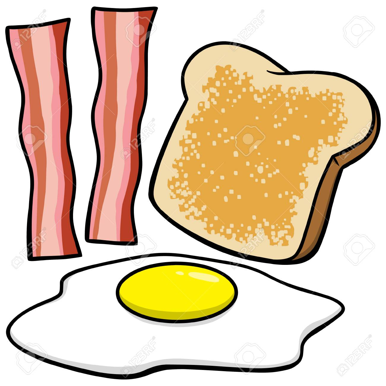 Bacon Eggs and Toast.