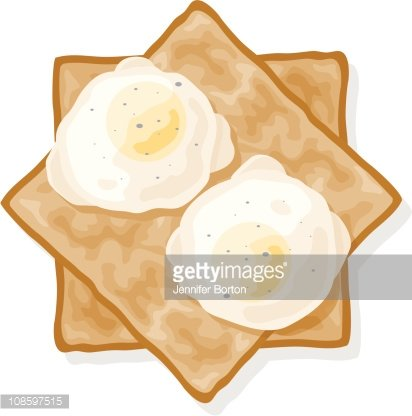 Poached Eggs ON Toast premium clipart.