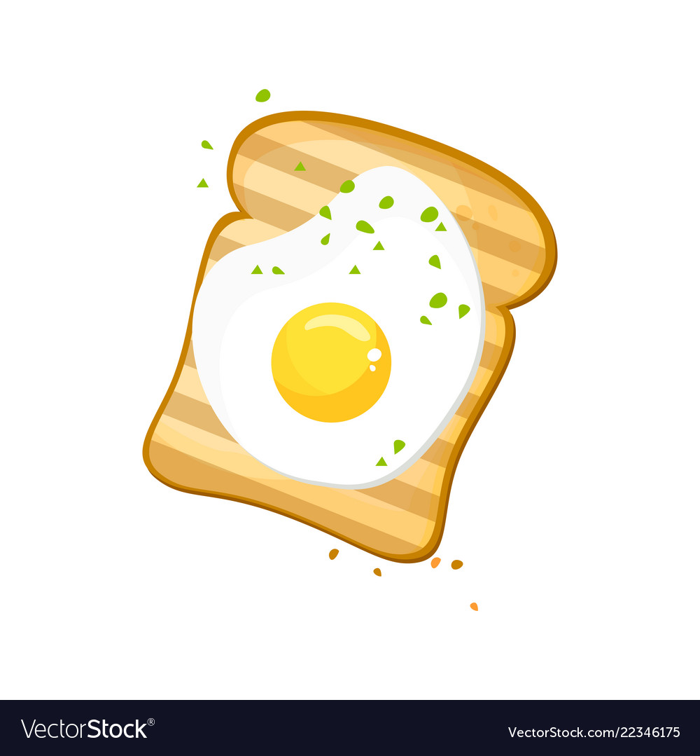 White bread egg toast fresh toasted bread with.