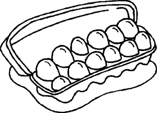 Dozen Eggs Clipart Black And White.