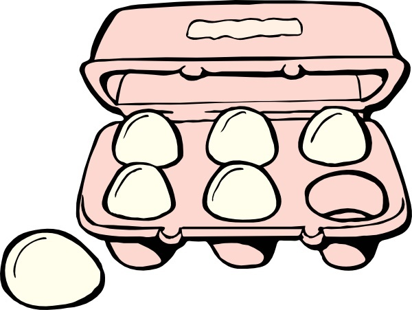 Carton Of Eggs clip art Free vector in Open office drawing svg.