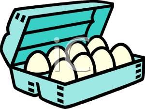 Carton Of Eggs Clipart.