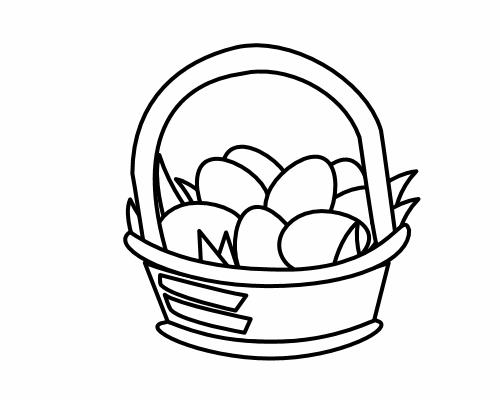 Egg Clipart Black And White.