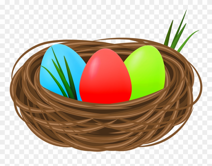 Nest With Eggs Clipart.