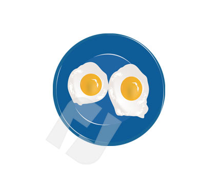 Eggs sunny side up clipart #11