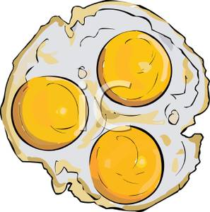 Fried Eggs Sunny Side Up.