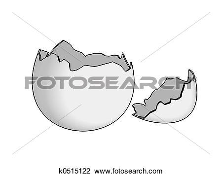 Stock Photo of Eggshell broken 2D k0515122.